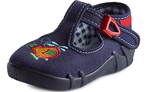 Ladeheid pantofole bambino e bambina larb001 (blu scuro/aereo, 21 eu)