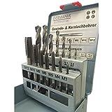 GERMANIA Qualitätswerkzeuge - Brocas trepanadoras (M3 a M12,  2,5 a 10,2 mm, 14 piezas)