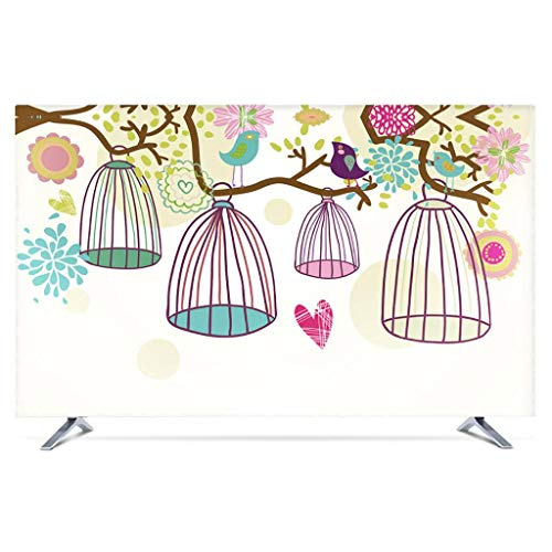 Monitor Hülle Polyesterbezug Staubdichtes, antistatisches LCD- / LED- / HD-Display-Schutzgehäuse Kompatibel mit Curved-TV, Desktop-TV und Hänge-TV 22-80 Zoll-65Zoll-I