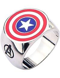 Men's Avengers Captain America Stainless steel Logo Ring