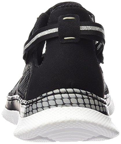 Rieker L5153 Women Low-top, Baskets Basses femme Noir - Schwarz (schwarz/schwarz/schwarz/schwarz / 00)
