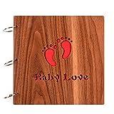 LH-TLMYFotoalben Scrapbook DIY Fotoalbum Bilderalbum Vintage Style Sticker Tagebuch aus Holz Geburtstaggeschenk 8 Zoll (Forever Love)