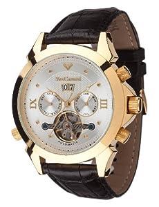Reloj de caballero Yves Camani G-30803-A automático, correa de piel color negro de Yves Camani