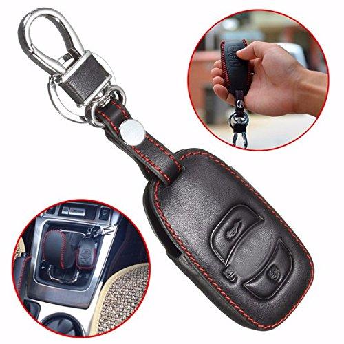Viviance Leder Car Case Cover Holder Für Subaru Forester Legacy Outback Remote Smart Key Xv (Aus Smart-key-cover Leder)