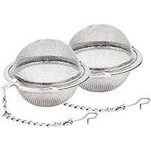 2 piezas de acero inoxidable Malla Té Bola coladores té Infuser Filtros té de intervalo De Bola en Acero Inoxidable Hosaire