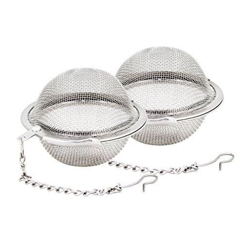 Hosaire 2 piezas de acero inoxidable Malla Té Bola coladores té Infuser Filtros té de intervalo De Bola en Acero Inoxidable