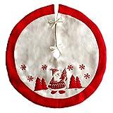 LQZ Weihnachtsbaumdecke Christbaumdecke Baumdecke Christbaumständer Weihnachtsschmuck Bodendekoration Weiß Weihnachten Karneval