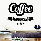 Adorables autocollants muraux café modernes et élégants autocollants muraux pour chambre de bébé papier peint art déco taille XL: 43cm X 51cm