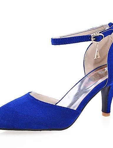 WSS 2016 Chaussures Femme-Décontracté-Noir / Bleu / Violet / Rouge-Talon Aiguille-Bout Pointu / Bout Fermé-Talons-Daim blue-us5.5 / eu36 / uk3.5 / cn35