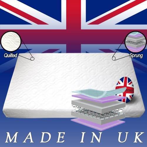 Superior per lettino a molle Deluxe-Lettino con materasso, 140 x 70 x 13 cm di (Schiuma Deluxe Materasso)
