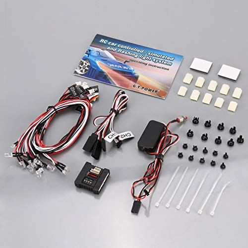leoboone G.T Power 6.0V RC Car Controlled / Simulated and Flashing Light System 6 Kinds of Flashover Modes 8 Lamp Set Interfaces