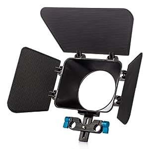 TARION Matte Box numérique avec 15 mm rail Rod support M1 Pare-soleil pour appareil photo reflex num