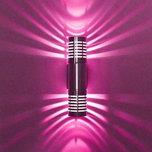 M-zmds Applique murale LED 3W Up et Down Applique murale Aluminium Spot Light Lamp (Couleur : Red)
