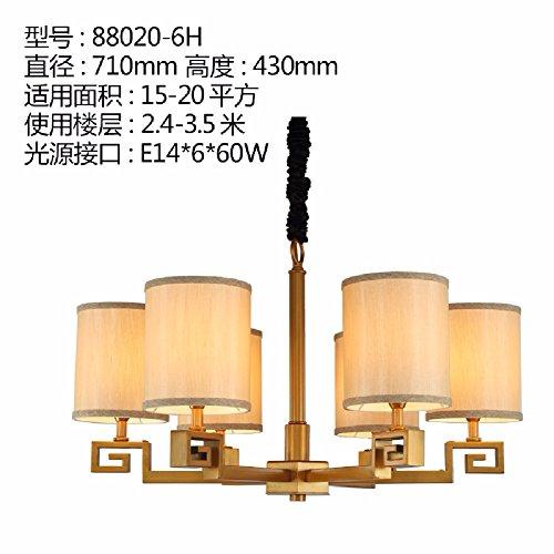 KHSKX Cinese che vive luci della stanza, antichi lampadari camera da letto moderna Ristorante illuminazione, semplice,6