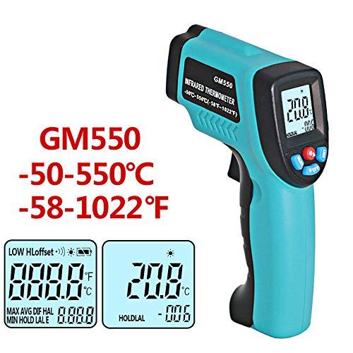 Feeyond Gm550-50 ~ 550 ° C Termómetro Digital por Infrarrojos Inteligente Multifunción De Mantenimiento...