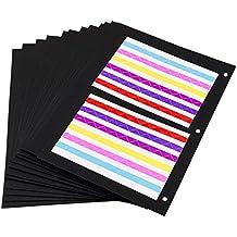 ThxMadam Scrapbooking Nero Carta 23 x 19CM, 20pcs Extra Refill Pagine Carta Bianca Interna del Libro Fotografico per Scrapbook Fai da Te Foto Album 24.5x21.5CM, per Album 'Marrone/Nero Medio'