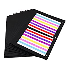 Idea Regalo - ThxMadam Scrapbooking nero Carta 26x18CM, 20pcs Extra Refill Pagine Carta Bianca Interna del Libro Fotografico per Scrapbook Fai Da Te Foto Album 27,5x20,5CM, per Album'Cuore Pianta Studente Grande'