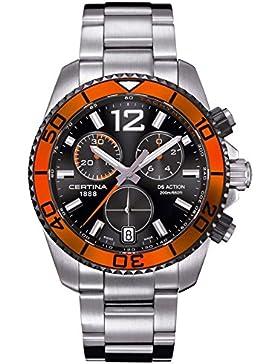 Certina Herren-Armbanduhr XL Chronograph Quarz Edelstahl C013.417.21.057.01