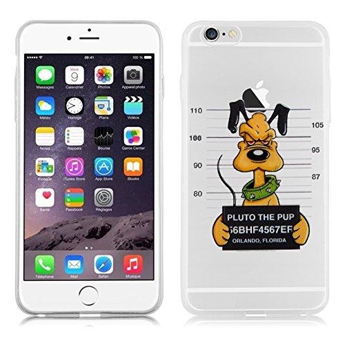 "iPhone 6 Hülle, JAMMYLIZARD Transparentes Sketch Back Cover aus Silikon mit Muster für iPhone 6 / 6s 4.7"", SILHOUETTE 1 Gefangener Pluto"