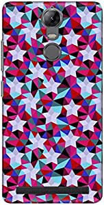 The Racoon Lean printed designer hard back mobile phone case cover for Lenovo K5 Note. (Purple Geo)