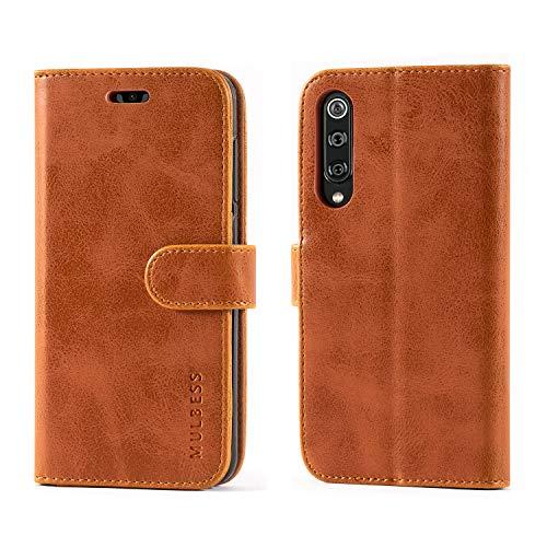 Mulbess Flip Xiaomi Mi 9 SE Case, Xiaomi Mi 9 SE Leather Case, Xiaomi Mi 9 SE Wallet Case, Flip Phone Case for Xiaomi Mi 9 SE Cover, Brown