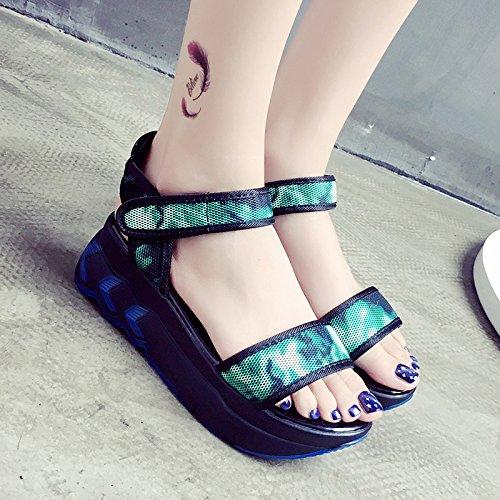 RUGAI-UE Magic sandali estivi scarpe piatte Green