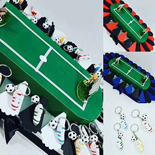 Bomboniere calcio portachiavi scarpetta con pallone e campo da calcio stadio squadra a scelta (27 portachiavi campo inter)