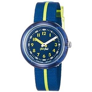 Flik Flak Mädchen Analog Quarz Uhr mit Stoff Armband FPNP023