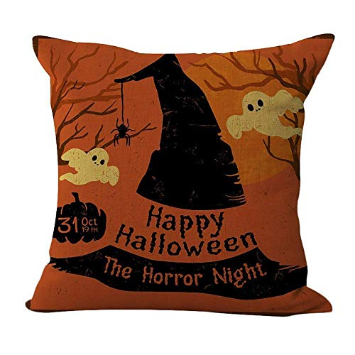 Halloween Horror Night Pattern Pillow Square Decor Sofa Cushion Decorative Throw Pillow 18