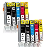 Merotoner - 10er Pack Druckerpatrone für HP 364XL 364 XL HP Deskjet: 3070 / 3070A / D 5445 / D 5460 HP Photosmart: B 109A / B 8550 / C 5300 / C 5324 / C 5370 / C 5380 / C 5390 / C 6300 / C 6324 / C 6380 / D 5445 / D 5460 / D 7500 / D 7560 / Estation C 510A HP Photosmart e-All-in-One: 5510 / 5514 / 5515 / 6510 / 7510 / B 110A / B 110C / B 110D / B 110E / B 110F HP Photosmart Wireless: B 109A / B 109B / B 109C / B 109D / B 109E / B 109F / B 109G / B 109N HP Photosmart Premium: B 010A / B 010B / B 210 / B 210A / B 210B / B 210C / B 210E / B 410A / B 410C / C 309G / C 310A / C 410A / C 410B / C 410C / C 410D / C 410E / Fax C 309A / Touchsmart Web C 309N HP Photosmart Plus: 209A / B 209B / B 209C kompatibel