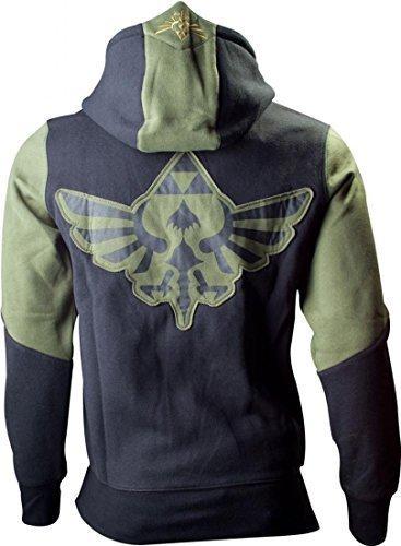 Preisvergleich Produktbild Men's Nintendo Legend Of Zelda Hoodie with Zelda Back Design | L | Green/Black