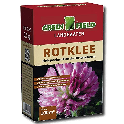 Greenfield 63755 Trefle Rouge 500 G pour Env. 100 Qm