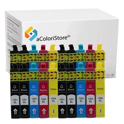 Kit 20 cartucce compatibili per Epson serie T1811 T1812 T1813 T1814 20 Pezzi EXPRESSION HOME XP30 XP102 XP202 XP205 XP212 XP215 XP302 XP305 XP312