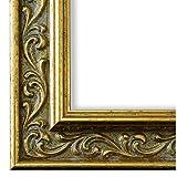 Bilderrahmen Verona 558P-ORO Gold 4,4 - LR - 60 x 90 cm - wählen Sie aus über 500 Varianten - alle Größen - Antik, Barock, Landhaus, Shabby, Verziert - Fotorahmen Urkundenrahmen Posterrahmen