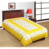 Jaipuri Bedsheets (120 TC 100% Cotton Multicolor Printed 1 Single Bedsheet Without Pillow Cover)-By Indian Royal Fashion