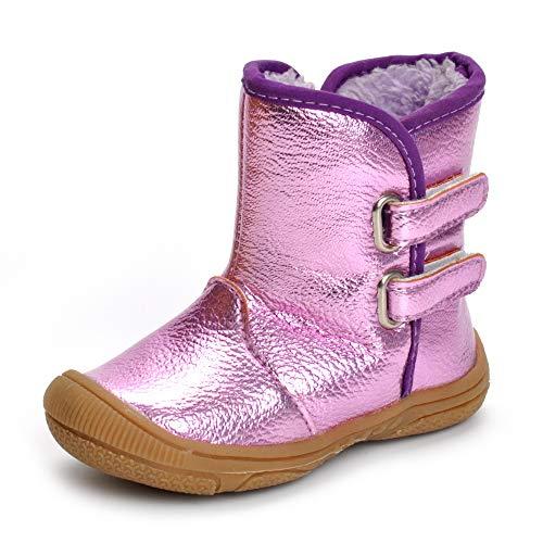 Matt Keely Baby Jungen Mädchen Schneestiefel Kleinkind Winter warme Schuhe, Buntes Lila, InnerLänge:13.3cm/5.24':12-18 Monate