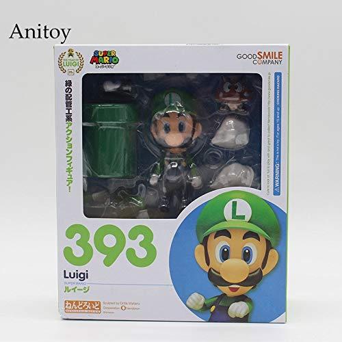 rio Bros Wii Figur Mario # 473 / Luigi # 393 Actionfigur Nendoroid Party Dekoration Spielzeug 10cm KT3282 ()
