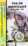 Vía del Montsant en BTT. Mapa cicloturista. Escala 1:40.000. Editorial Piolet.