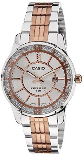 517z50rtj3L - Casio LTP 1358RG 7AVDF A896 Enticer Silver Women  watch