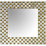 Wall Mirror Frame - Gold Silver Square Mosaic Embossed