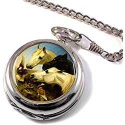 Horses and Doves by Herring Full Hunter Pocket Watch