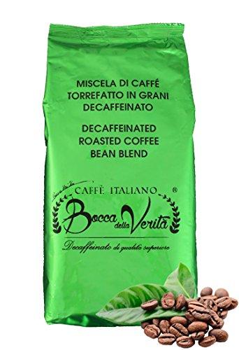 Caffè Italiano Bocca Della Verità Caffè in Grani Torrefatto DECAFFEINATO SUPERIORE - Sacco da 1 KG
