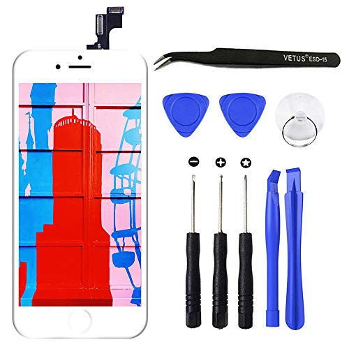 z für iPhone 5S/SE LCD Display Bildschirm Touchscreen Digitizer Display Front Glas Panel mit Reparatur Komplett Set Werkzeuge für iPhone 5S/ SE Screen DIY Weiß, 4 Zoll ()