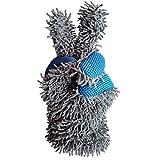 WASHYS Microfaser Felgenhandschuh Waschhandschuh Alufelgen, Lack, Fenster Zweiseitiger Autopflege Felgenbürste 1x Blau