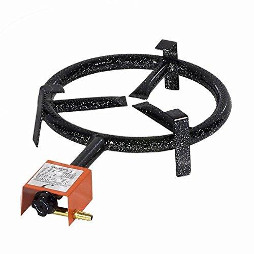 Garcima Paella Single Ring Butane/Propane Gas Burner, Black, 30 cm