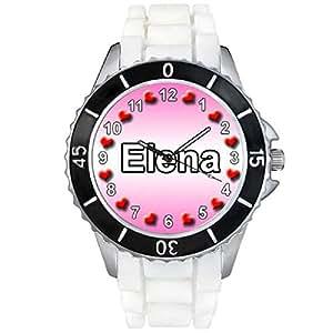 Elena - Montre Unisex - Bracelet Silicone Blanc