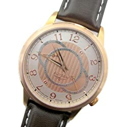 Elysee Herren-Armbanduhr Analog Quarz Leder 67011