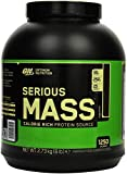 Optimum Nutrition Serious Mass Weight Gainer (mit Kohlenhydrate, Whey Eiweißmischung Pulver, Vitaminen, Kreatin und Glutamin, Protein Shake von ON) Chocolate, 8 Portionen, 2,73kg
