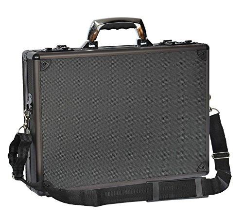 Aluminium Attache Metall Tasche Laptop Träger BüroTraditionelle Aktentasche Hulk Schwarz (Attache Aktenkoffer Executive)