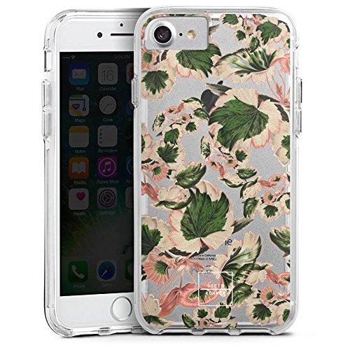 Apple iPhone 6 Bumper Hülle Bumper Case Glitzer Hülle Steinrohner Blumen ohne Hintergrund Bumper Case transparent